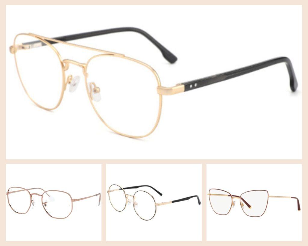 cienkie metalowe okulary